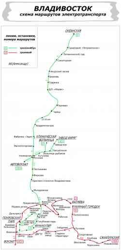 _. Схема электротранспорта
