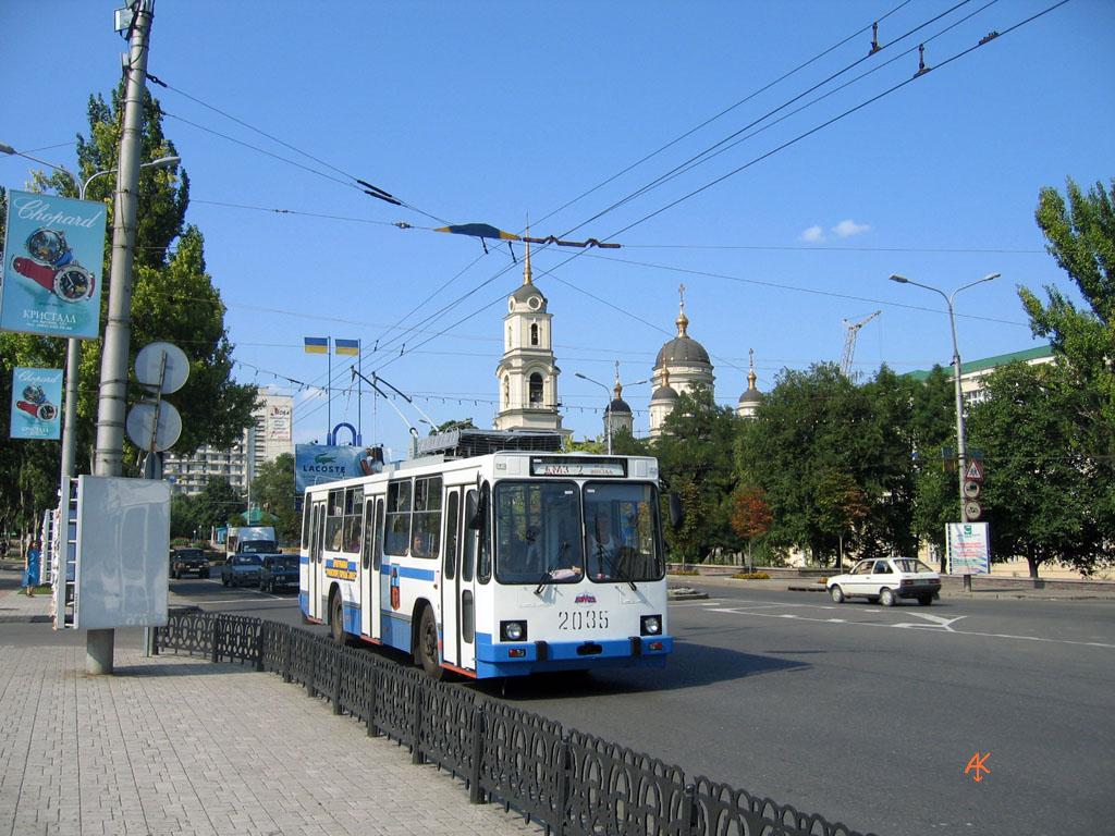 Донецк, троллейбус юмз т2 2035