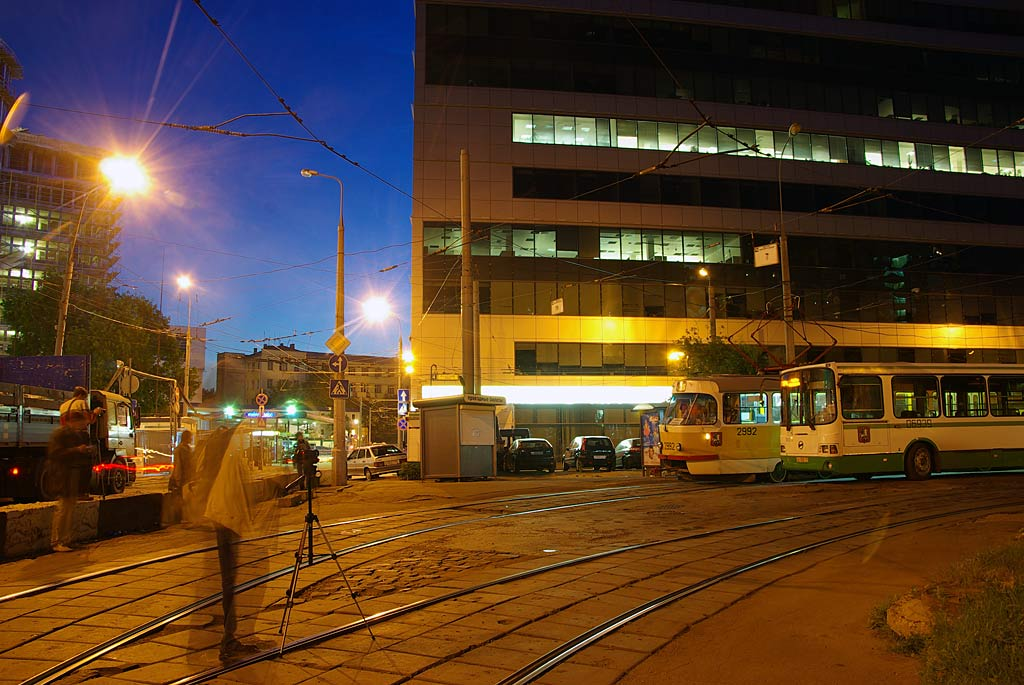 Moscow — Clousure of tramway line on Lesnaya street