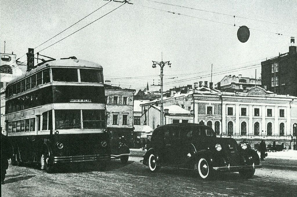 Moscow — Historical photos — Tramway and Trolleybus (1921-1945)