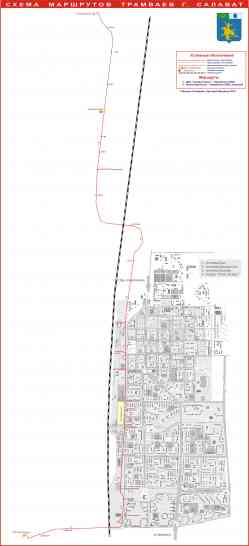 Схема маршрутов трамваев