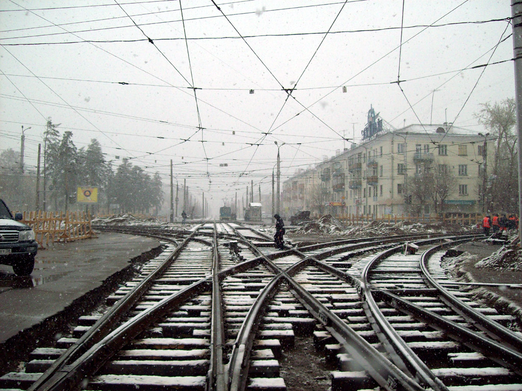 Angarsk — Tram lines and loops