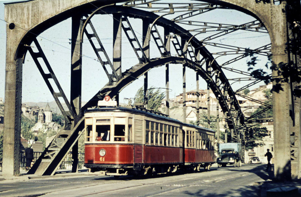 Tbilisi, H # 61; Tbilisi — Old photos and postcards — tramway