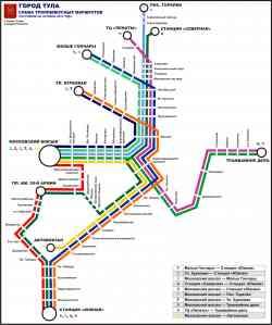 Схема маршрута 18 тула