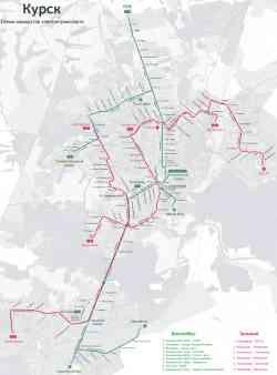 Карта схема общественного транспорта курска