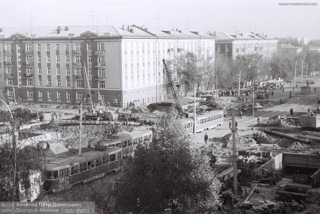 Samara — Historical photos — Tramway and Trolleybus (1942-1991); Samara — Metro construction