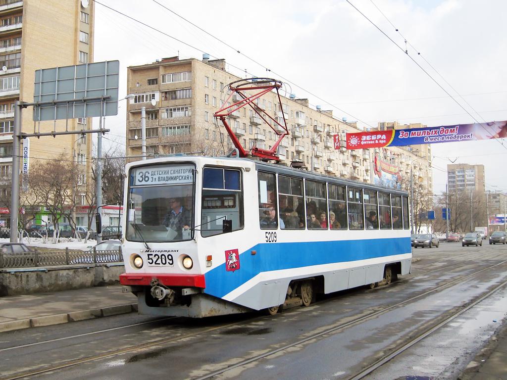 Трамвай 3  маршрут   Москва