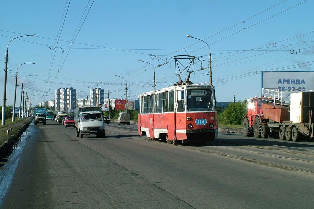 Омск, 71-605 (КТМ-5М3) № 114; Омск — Трамвайные линии — Левобережье (демонтировано)
