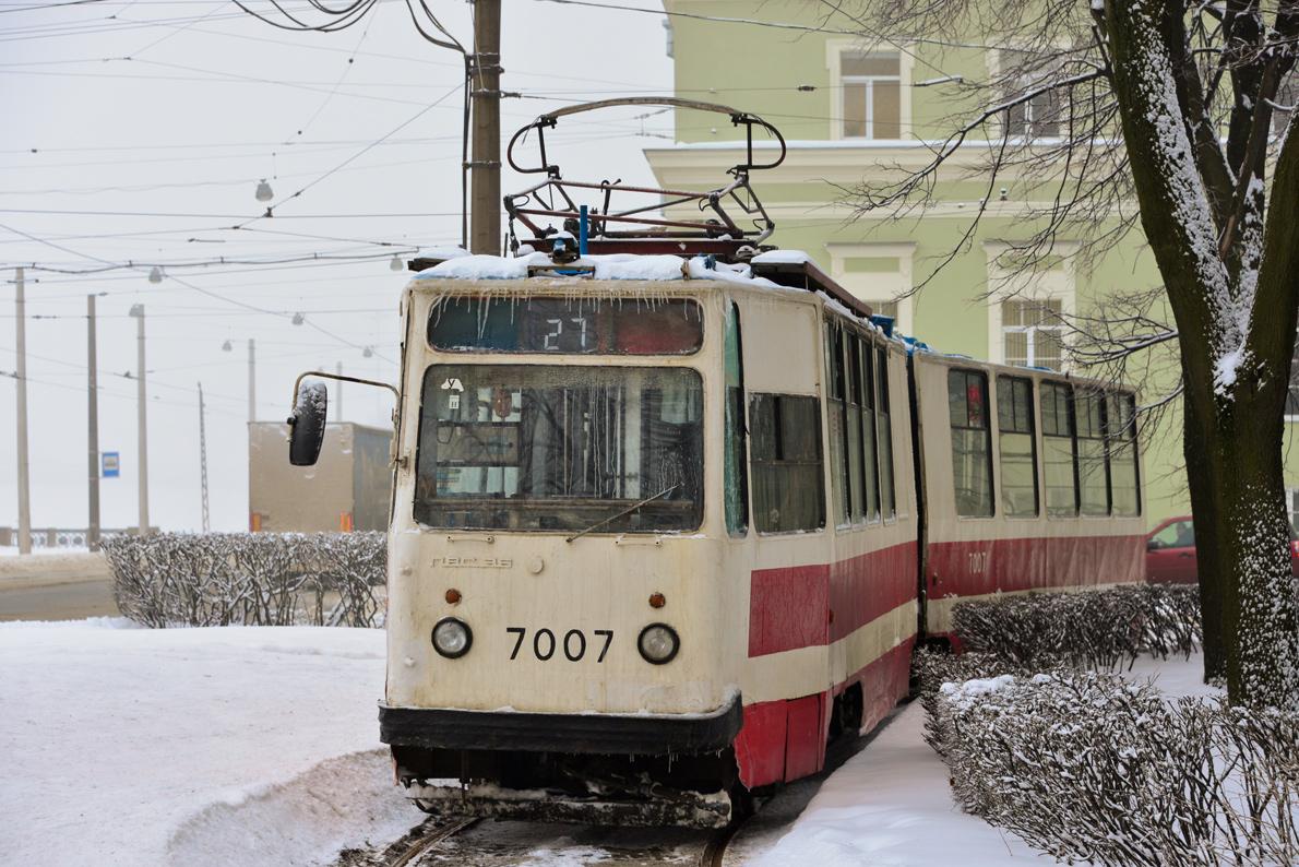 Санкт петербург трамвай лвс 86к 7007