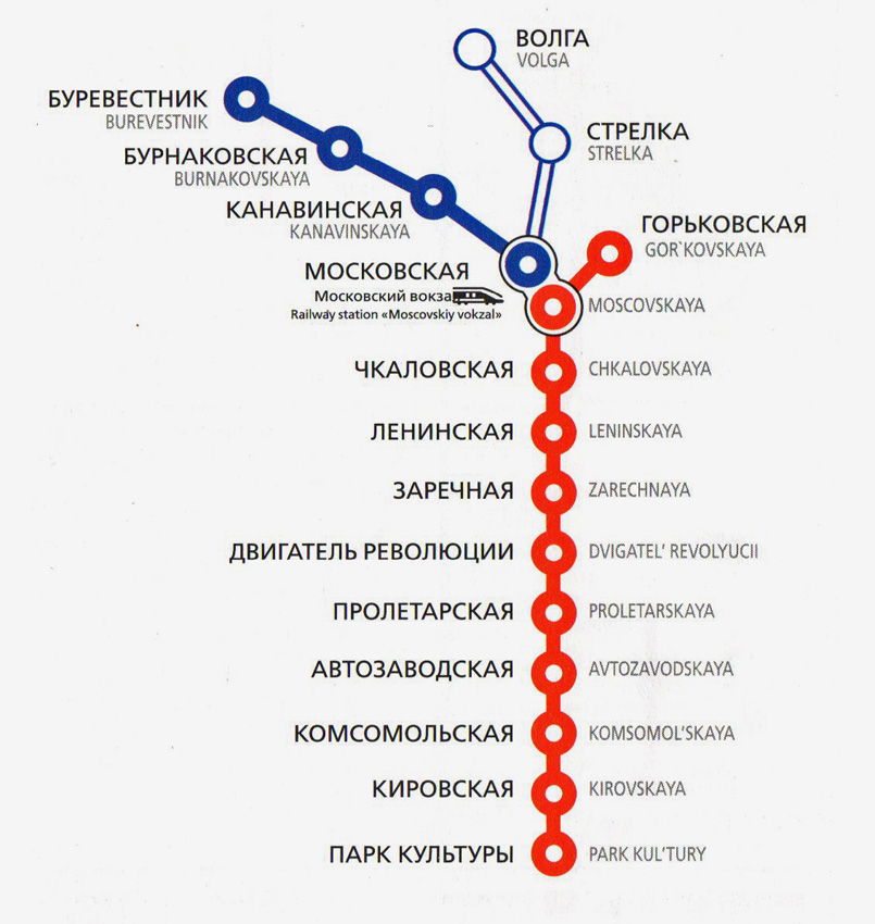 Горьковский метрополитен схема