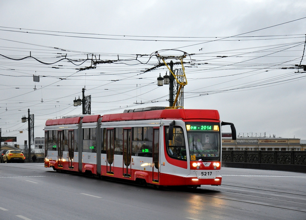 Санкт-Петербург, трамвай 71-631 № 5217; Санкт-Петербург — Заказная поездка на 71-631 № 5217