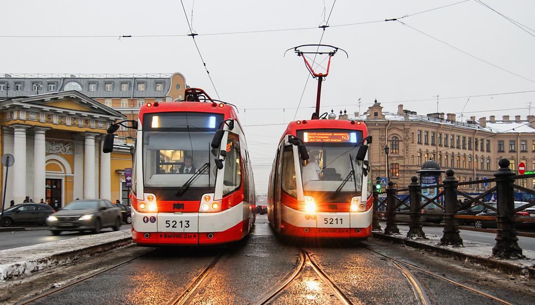 Санкт-Петербург, трамвай БКМ