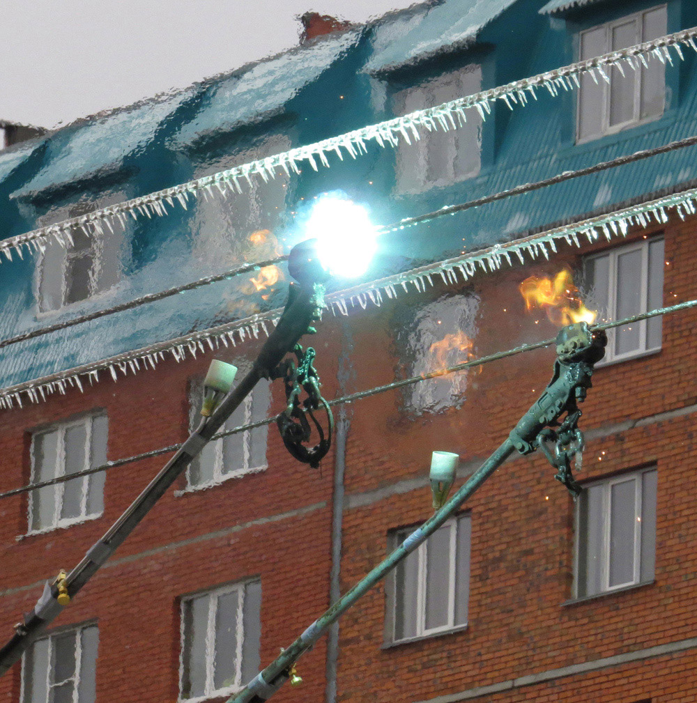 Novocheboksarsk — Aftermath of the Ice Storm of 17-18.10.2014