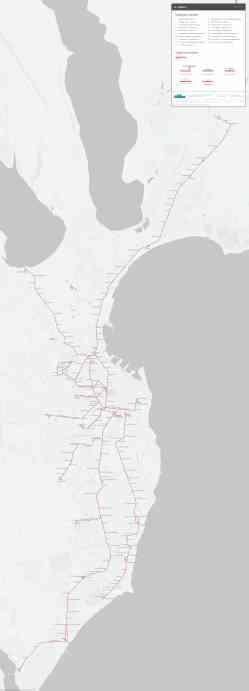 Схема трамвайних маршрутів