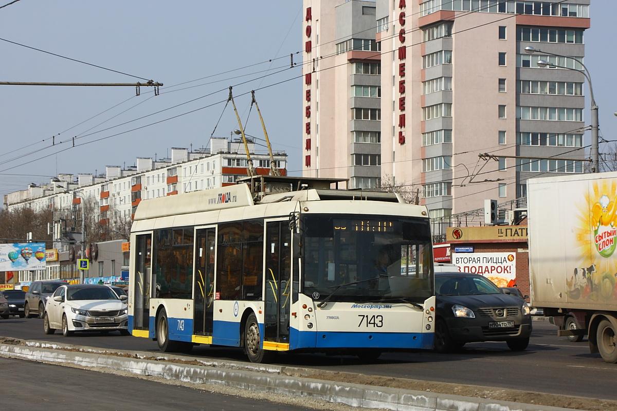 Москва, троллейбус ТролЗа-5265.00 «Мегаполис» № 7143