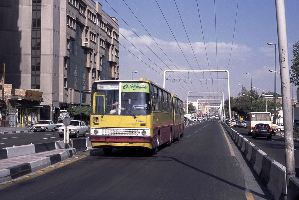 Tehran — Trolleybus Lines and Infrastructure