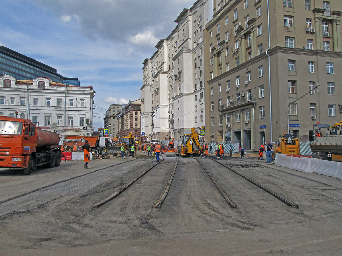 Moscow — Construction of a tram line to Belorussky railway teminal