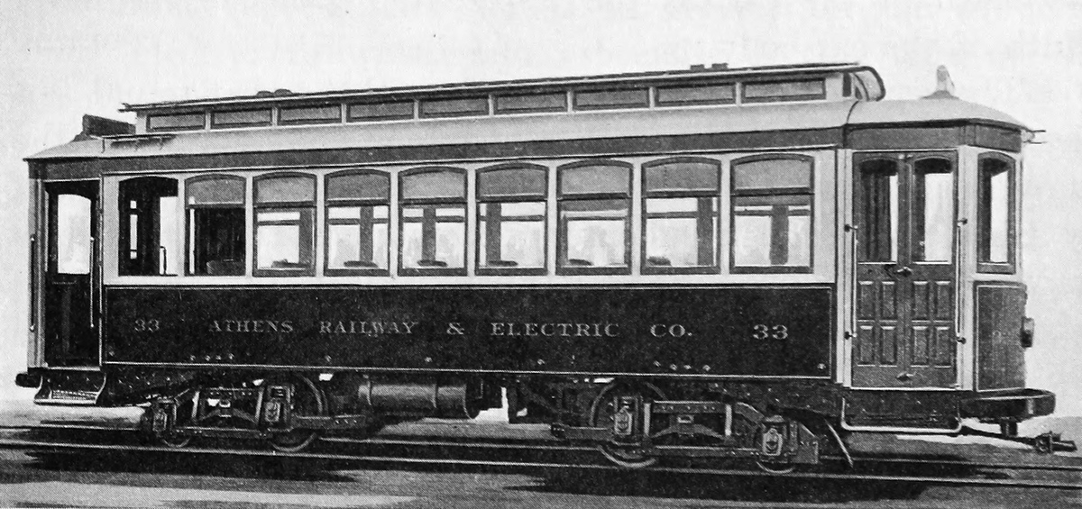 Athens, American 4-axle motor car # 33