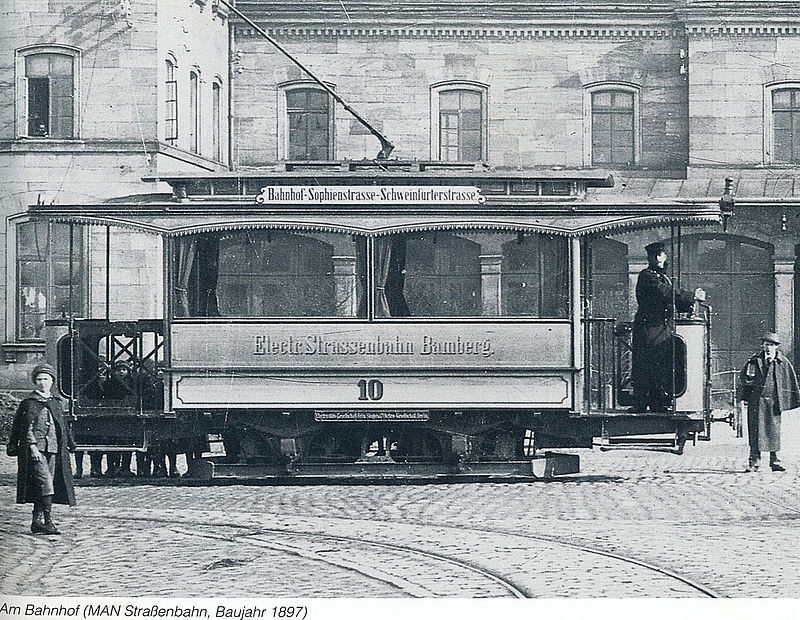 Bamberg, MAN 2-axle motor car # 10; Bamberg — Old Photos