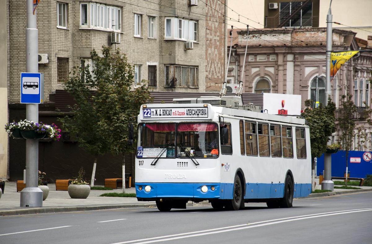 Ростов-на-Дону, ЗиУ-682Г-016.02 (с широкой 1-й дверью) № 317