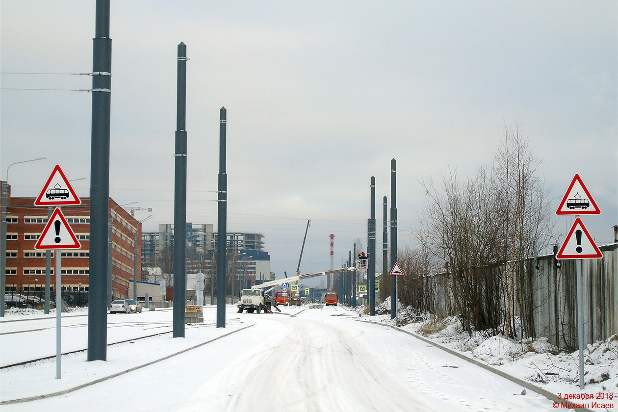 Saint Petersburg — Tram lines construction