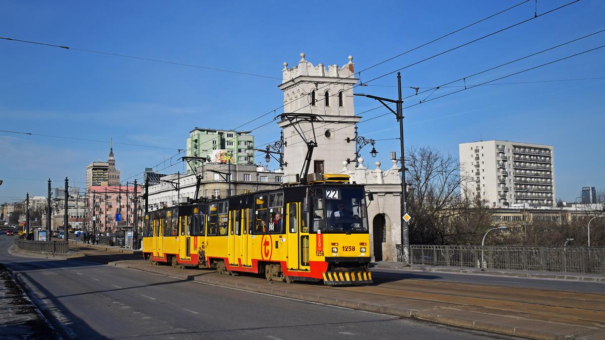 Варшава, Konstal 105Na № 1258; Варшава, Konstal 105Na № 1257