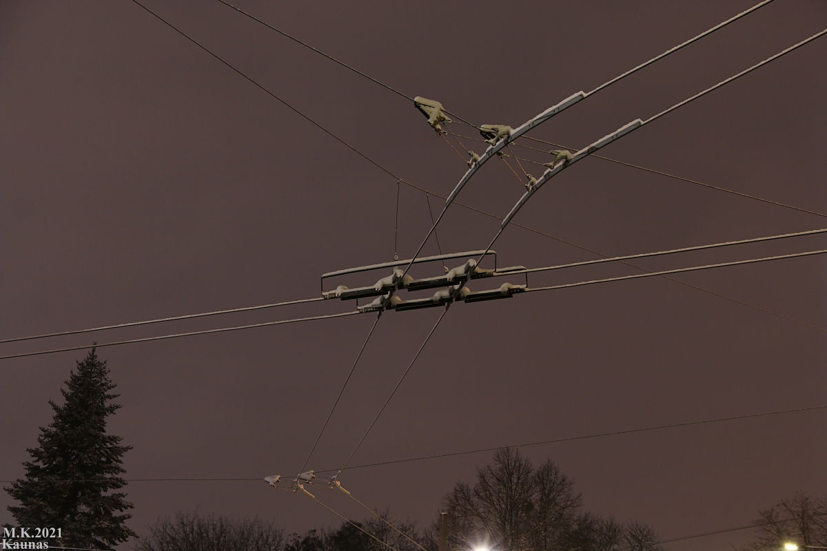 Kaunas — Trolleybus wires and infrastructure